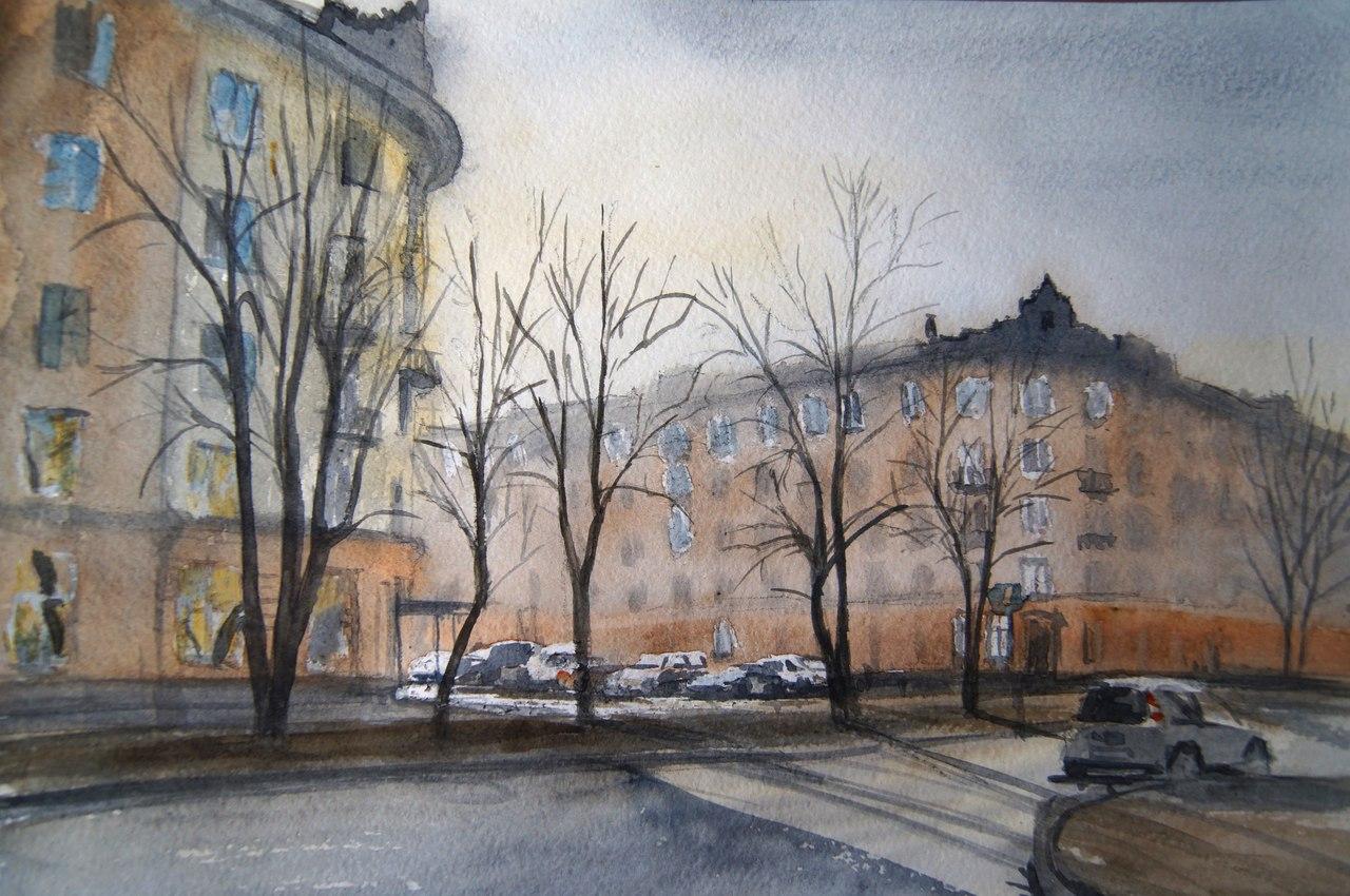 особенная улица новокузнецкая москва фото картины акварелью узнаете