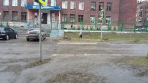 Переход школа 71 02 768x432 300x169 В школу через пни и грязь!!! (ФОТО)